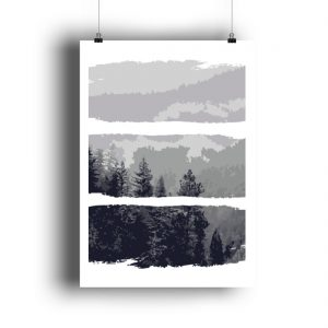 Poster Black White Nature - DIN A1 Poster (hochformat)-3
