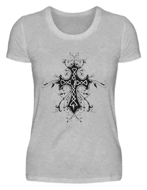 SpreeRocker Black Cross - Damenshirt-17