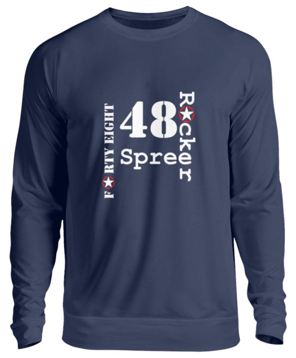 SpreeRocker Forty Eight weiss - Unisex Pullover-1676