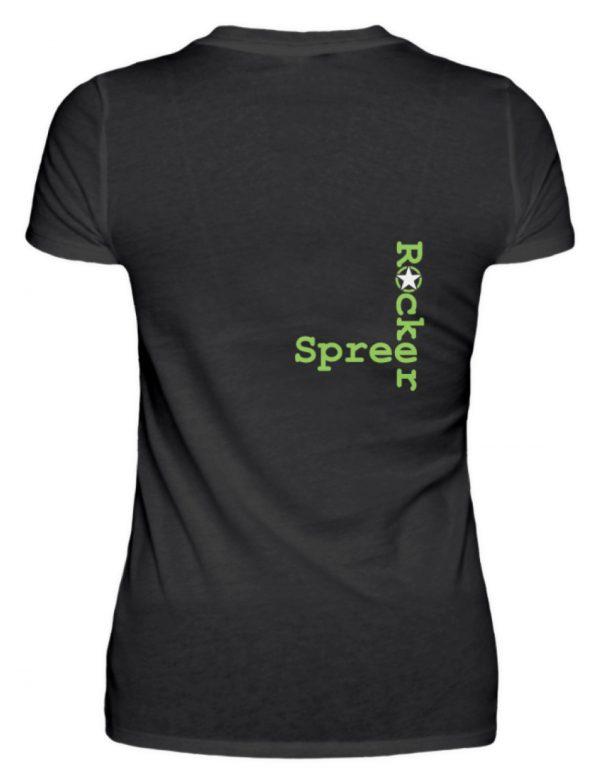 SpreeRocker Neon Skull - V-Neck Damenshirt-16