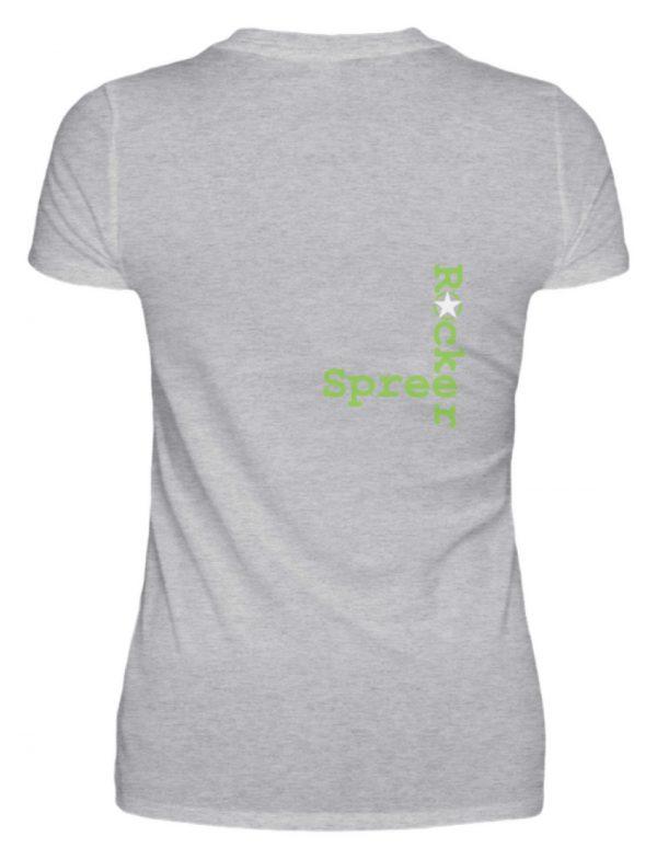SpreeRocker Neon Skull - V-Neck Damenshirt-17