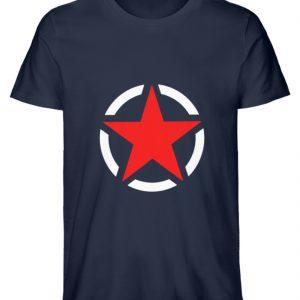 SpreeRocker Red + White Star - Herren Premium Organic Shirt-6887