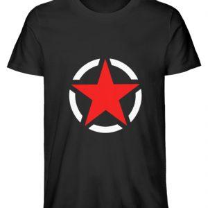 SpreeRocker Red + White Star - Herren Premium Organic Shirt-16