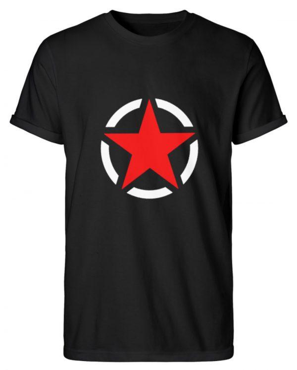 SpreeRocker Red + White Star - Herren RollUp Shirt-16