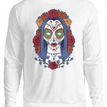 SpreeRocker Flower Skull - Unisex Pullover-1478