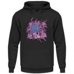 SpreeRocker Pink Skull - Unisex Kapuzenpullover Hoodie-1624