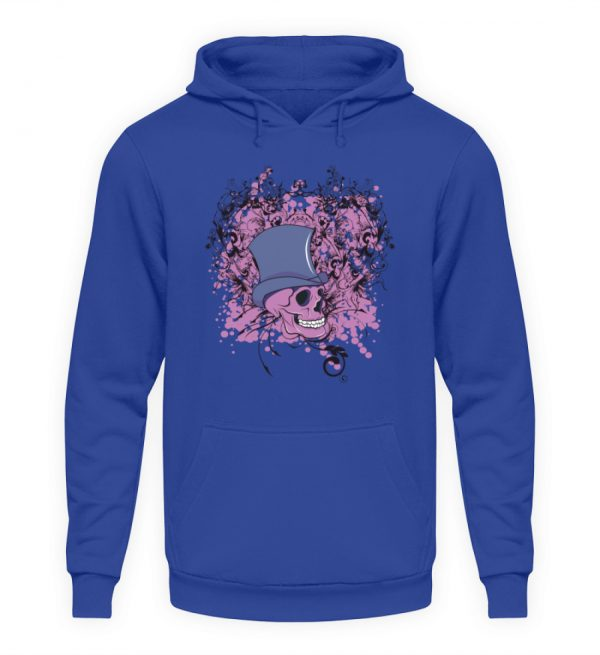 SpreeRocker Pink Skull - Unisex Kapuzenpullover Hoodie-668