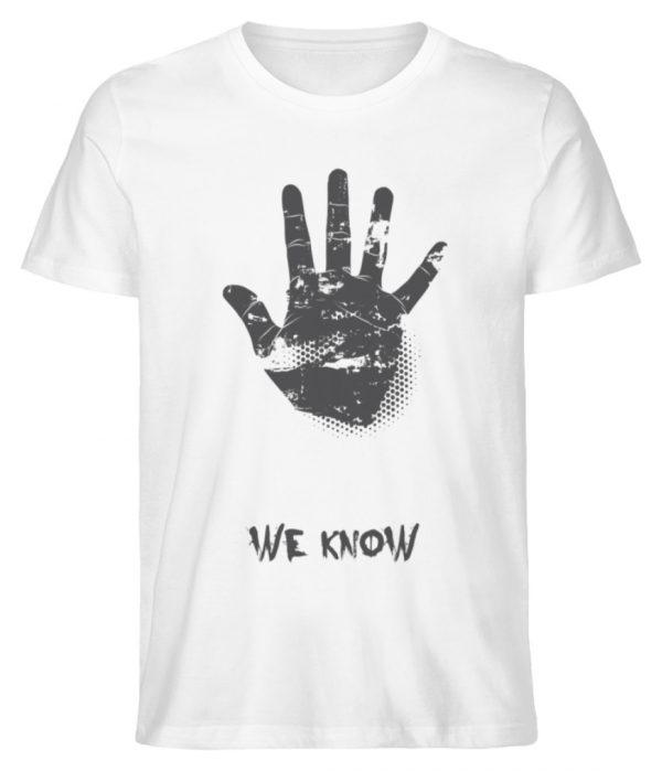 SpreeRocker We Know - Herren Premium Organic Shirt-3