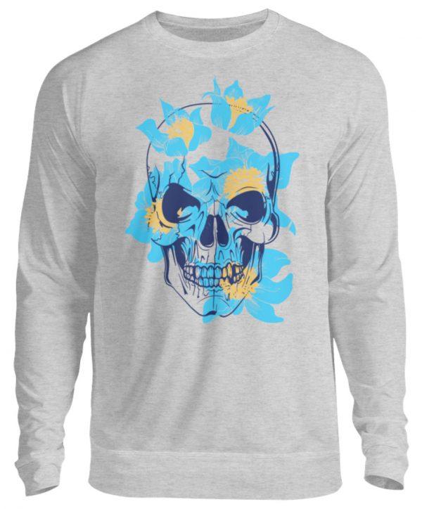SpreeRocker Blue Skull - Unisex Pullover-17