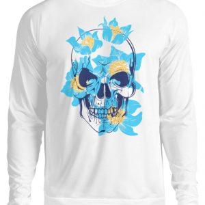 SpreeRocker Blue Skull - Unisex Pullover-1478