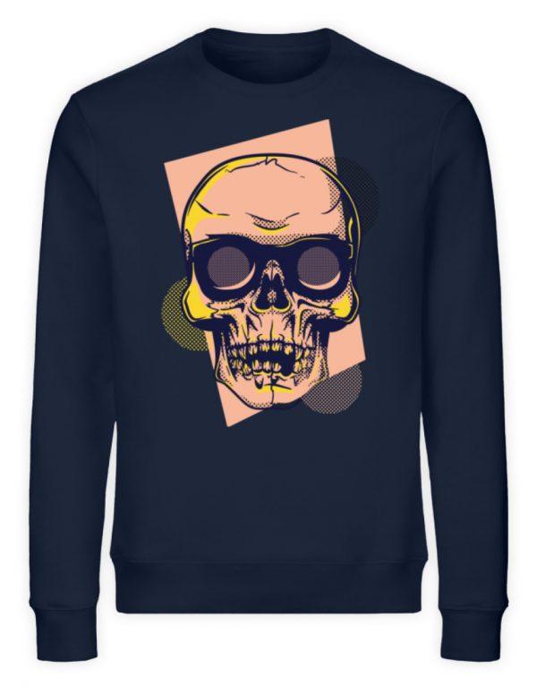 SpreeRocker Orange Skull - Unisex Organic Sweatshirt-6887