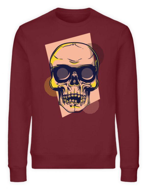 SpreeRocker Orange Skull - Unisex Organic Sweatshirt-6883