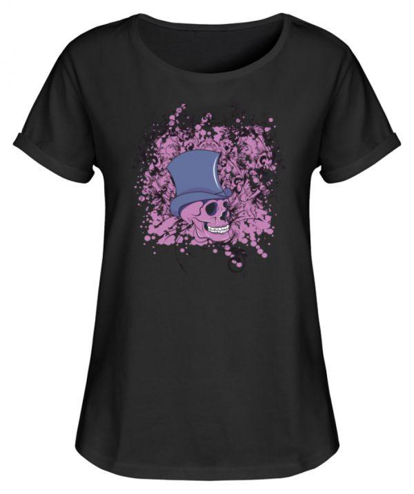 SpreeRocker Pink Skull - Damen RollUp Shirt-16