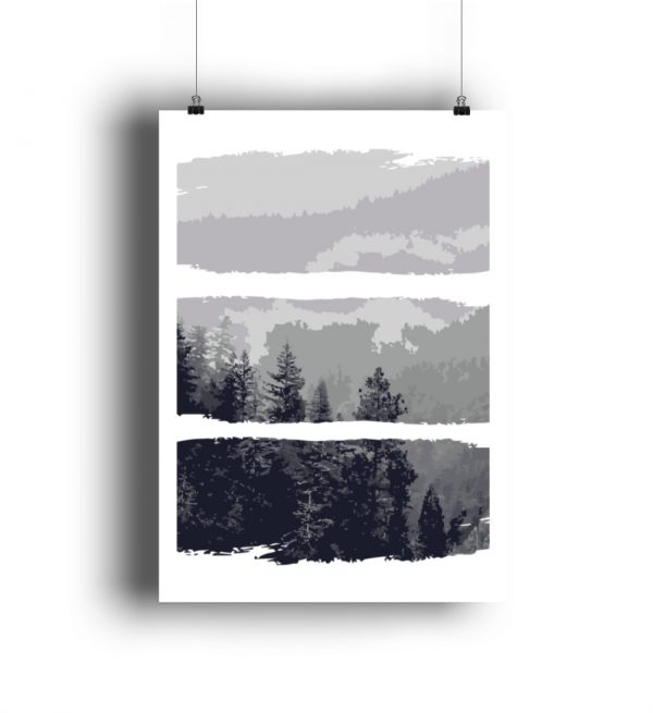 Poster Black White Nature - DIN A2 Poster (hochformat)-3