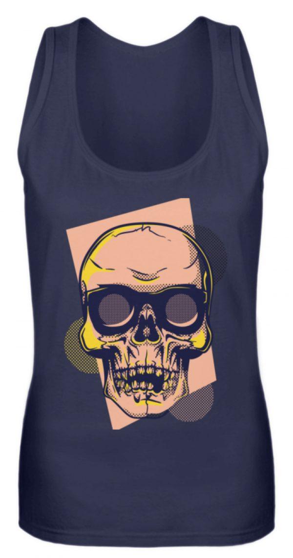 SpreeRocker Orange Skull - Frauen Tanktop-198