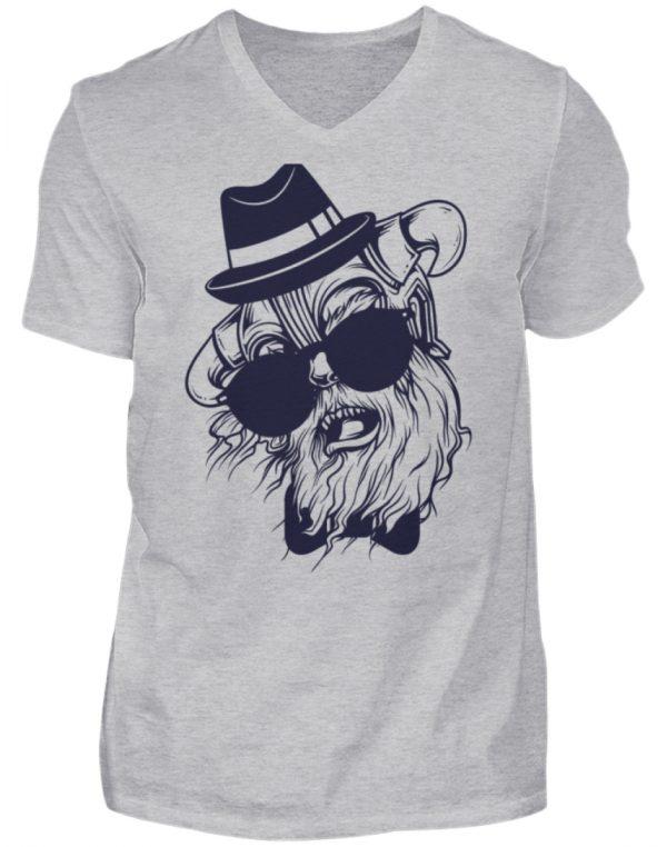 SpreeRocker Sunglass Monkey - Herren V-Neck Shirt-17