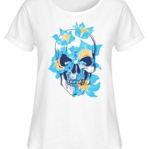 SpreeRocker Blue Skull - Damen RollUp Shirt-3