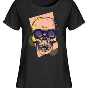 SpreeRocker Orange Skull - Damen RollUp Shirt-16