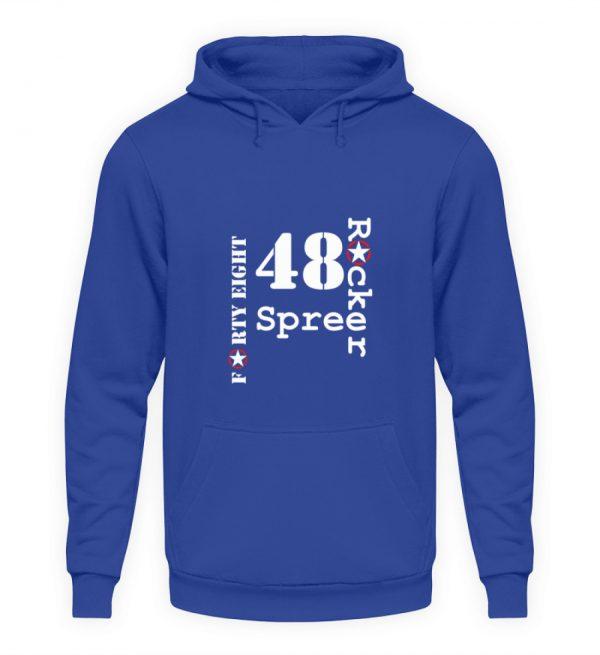 SpreeRocker Forty Eight weiss - Unisex Kapuzenpullover Hoodie-668