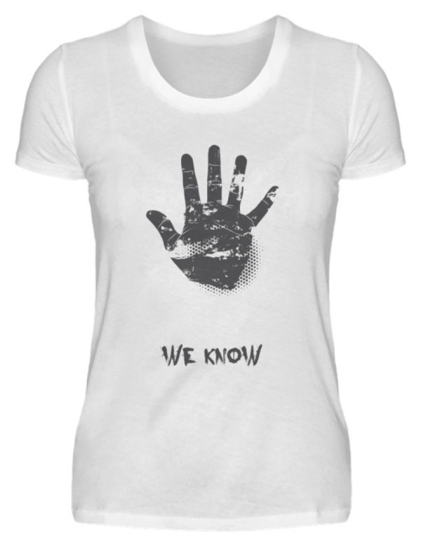 SpreeRocker We Know - Damenshirt-3