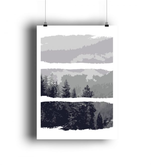 Poster Black White Nature - DIN A3 Poster (hochformat)-3
