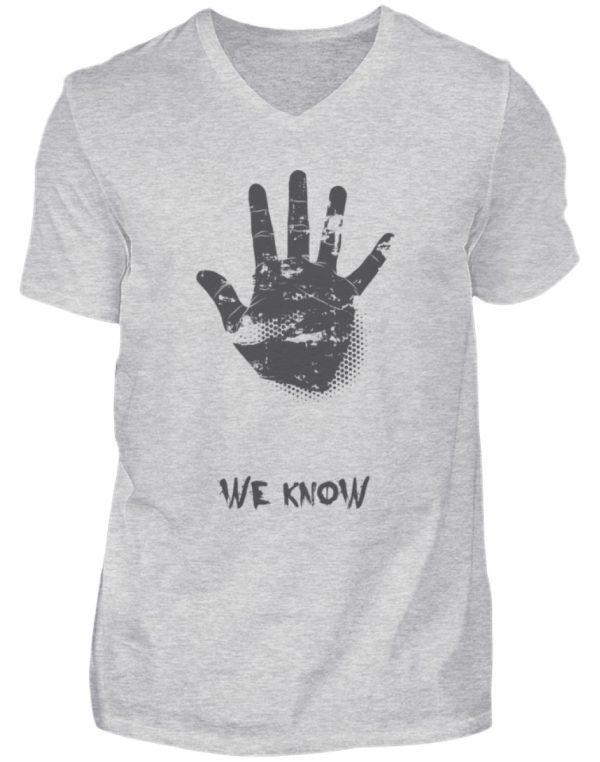 SpreeRocker We Know - Herren V-Neck Shirt-236
