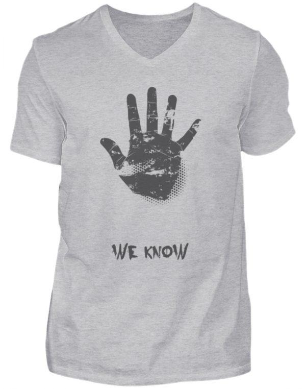 SpreeRocker We Know - Herren V-Neck Shirt-17