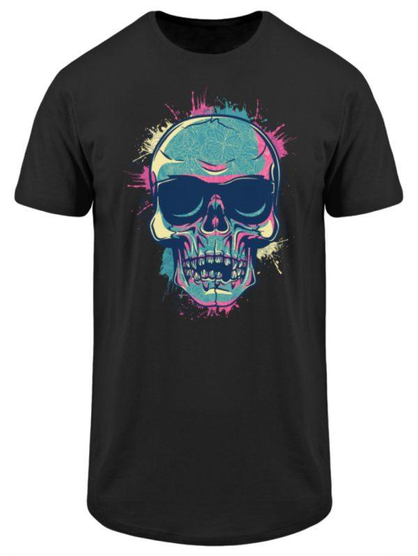 SpreeRocker Neon Skull - Herren Long Tee-16