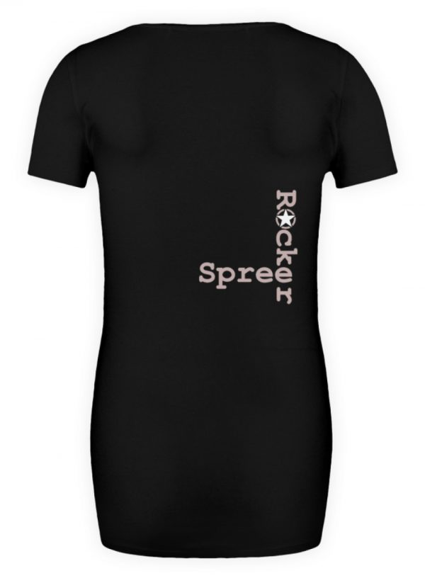 SpreeRocker Rose Skull - Schwangerschafts Shirt-16