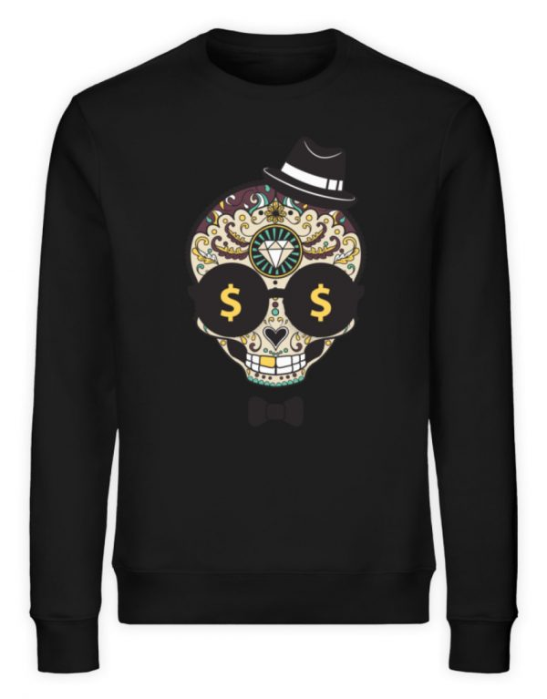 SpreeRocker Dollar Skull - Unisex Organic Sweatshirt-16