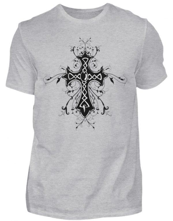 SpreeRocker Black Cross - Herren Shirt-17