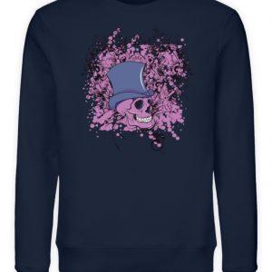 SpreeRocker Pink Skull - Unisex Organic Sweatshirt-6887