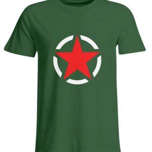 SpreeRocker Red + White Star - Übergrößenshirt-833
