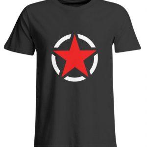 SpreeRocker Red + White Star - Übergrößenshirt-639