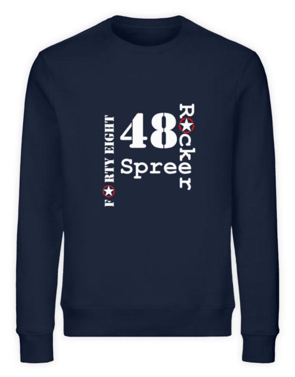 SpreeRocker Forty Eight weiss - Unisex Organic Sweatshirt-6887