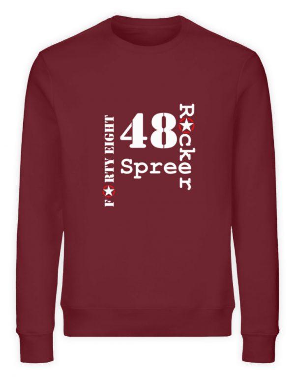 SpreeRocker Forty Eight weiss - Unisex Organic Sweatshirt-6883