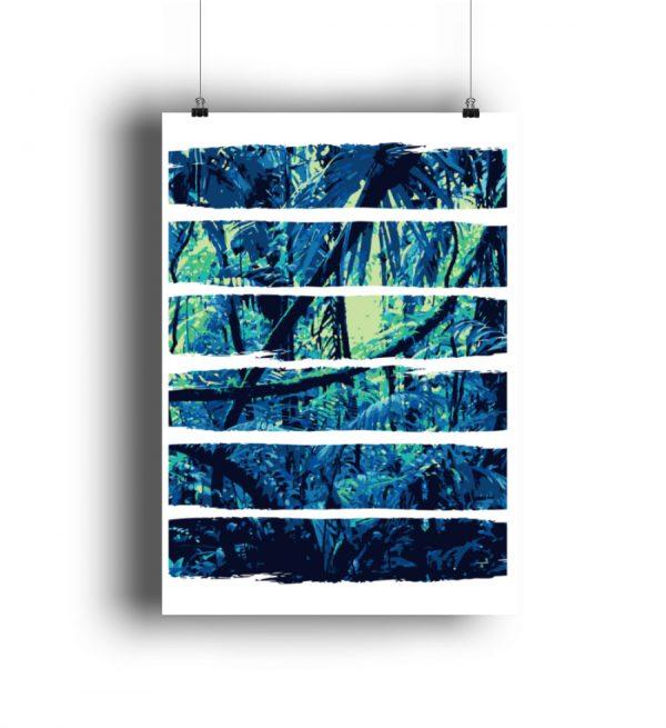 Poster Blue Jungle - DIN A0 Poster (hochformat)-3