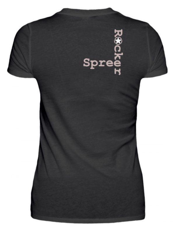SpreeRocker Rose Skull - Damenshirt-16