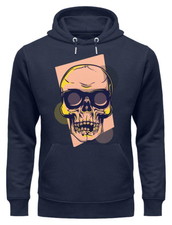 SpreeRocker Orange Skull - Unisex Organic Hoodie-6887