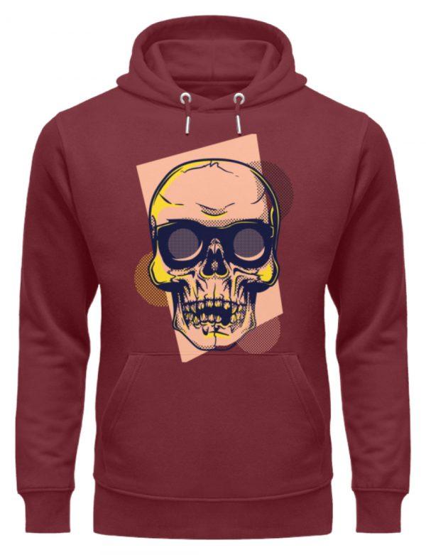 SpreeRocker Orange Skull - Unisex Organic Hoodie-6883