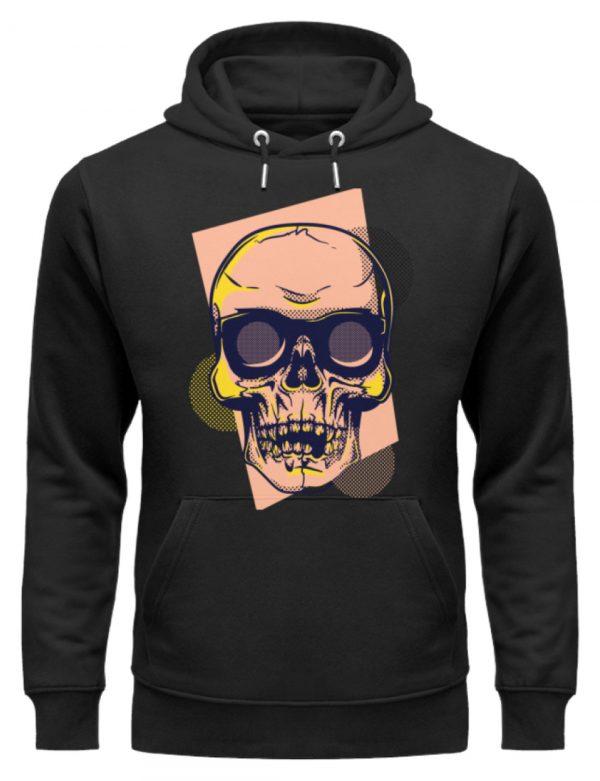 SpreeRocker Orange Skull - Unisex Organic Hoodie-16