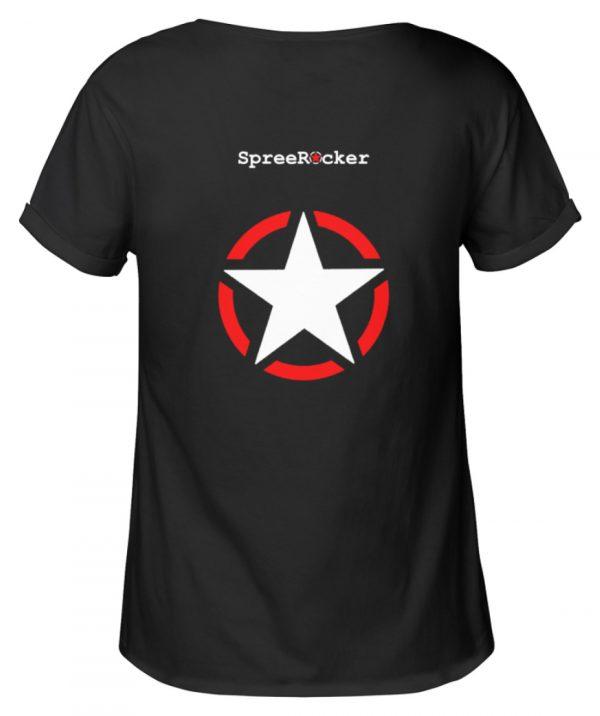 SpreeRocker Skull 1 - Damen RollUp Shirt-16