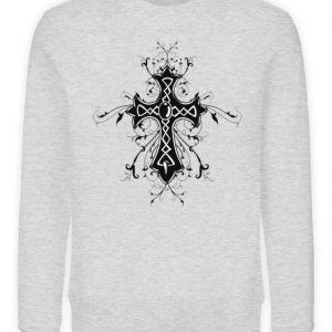 SpreeRocker Black Cross - Unisex Organic Sweatshirt-6892