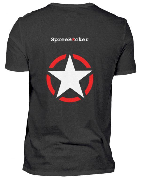 SpreeRocker Skull 1 - Herren V-Neck Shirt-16