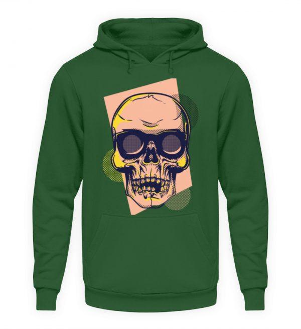 SpreeRocker Orange Skull - Unisex Kapuzenpullover Hoodie-833