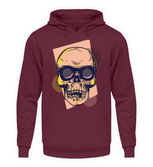 SpreeRocker Orange Skull - Unisex Kapuzenpullover Hoodie-839