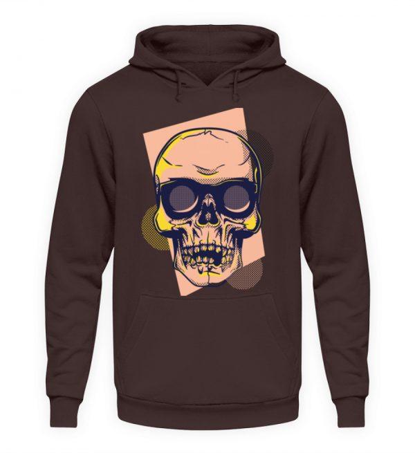 SpreeRocker Orange Skull - Unisex Kapuzenpullover Hoodie-1604