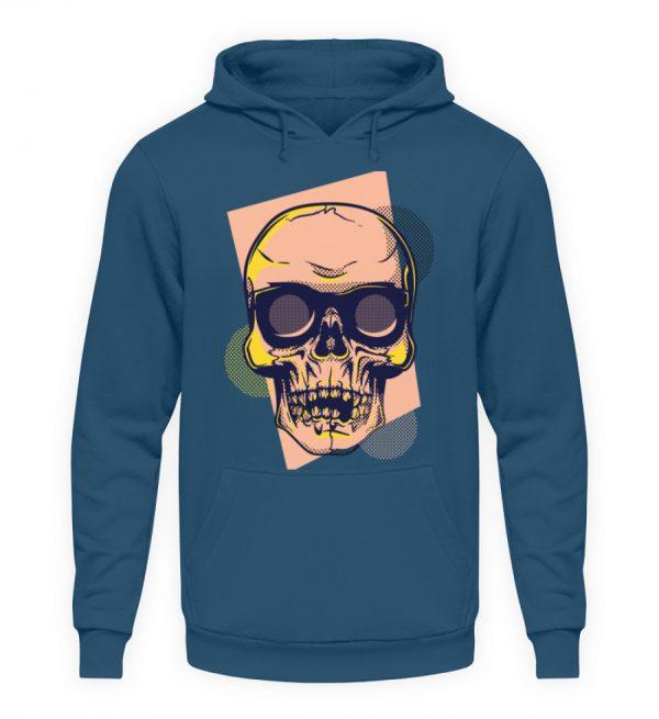 SpreeRocker Orange Skull - Unisex Kapuzenpullover Hoodie-1461