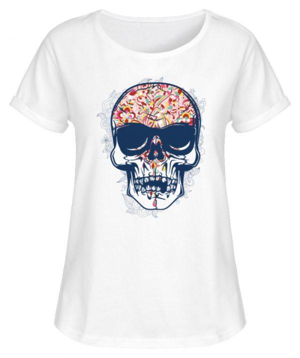 SpreeRocker Skull 2 - Damen RollUp Shirt-3