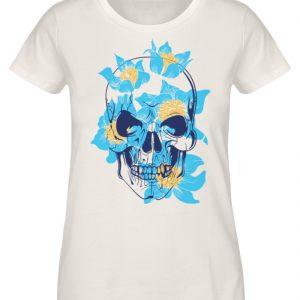 SpreeRocker Blue Skull - Damen Premium Organic Shirt-6881